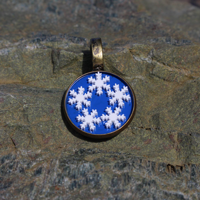 Frosty Snowflakes Pendant